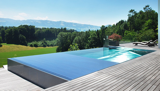 Piscine inox piscine en acier inoxydable bassin inox for Construction piscine debordement